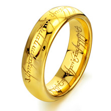 Titanium steel jewelry Lord of The Ring Lovers Stainless steel ring customized Tungsten steel Ring Jewelry