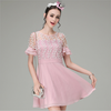 China wholesale young girls short sleeve pink mini cuite fashion summer style cute lace for korean clothes