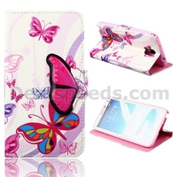 Hot Selling Colorful Butterfly TPU+PU Stand Wallet Leather Shell Cases for Samsung Note 3