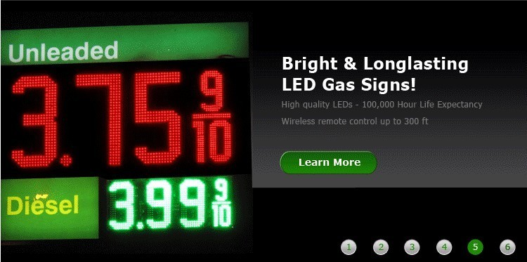 digital time board led gas station sign store price signs high school football program