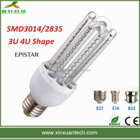 High quality E27 Clear Glass 4U 9W E27 CFL Bulb U shape led bulb