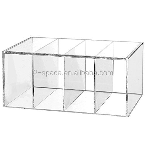 "5.5/"" x 3.6/"" Clear Window Large Hinge Tin Case Storage Box"