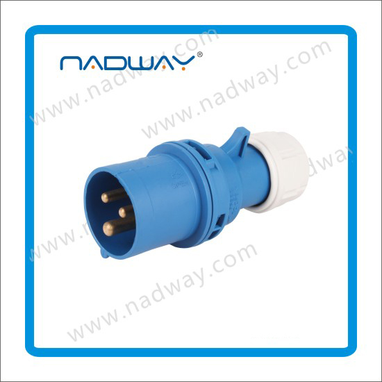 IP67 CEE waterproof plastic Panel mounted Industrial Socket Electrical plug&socket 3p+n+e industrial plug and socket