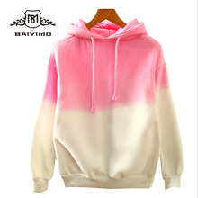 2018 Spring High Quality Custom Made Japan Style Dip Dye Hoodies for Girls