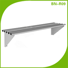 Restaurant Shelving/ Pipe Wall Shelf Stainless Steel 1500x300x300mm
