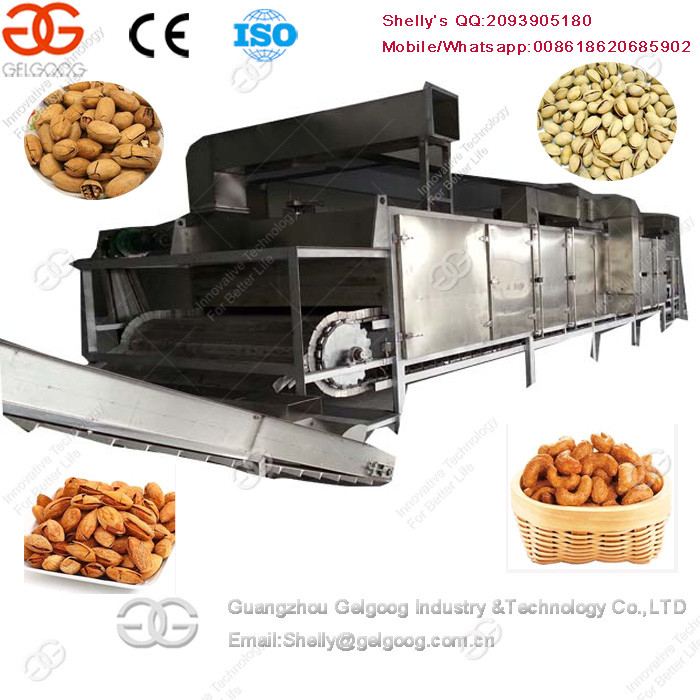 Automatic Sunflower Seeds Almond Groundnut Roaster Chili Roasting Machine
