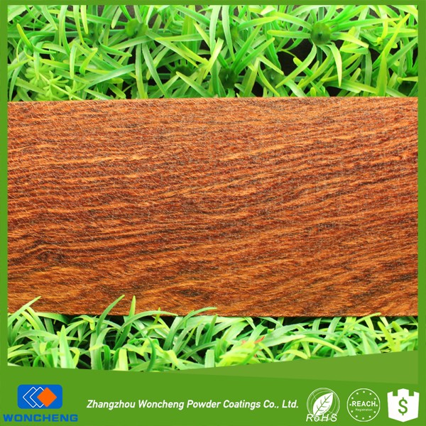 High end shining wood effect silk veins sublimation heat transfer powder coatings for aluminum profile