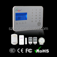 GSM mobile call App security alarm lcd keyboard with 99 wireless defense zone two way intercom WL-JT-99CS