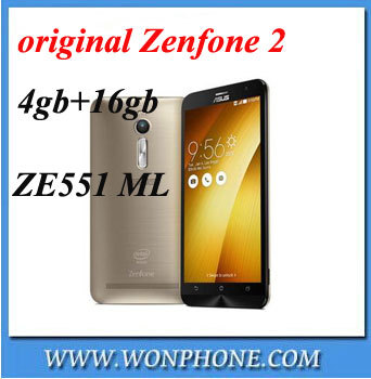 "Free gift case! Original Zenfone 2 smart phone ZE551ML FDD LTE 4G 5.5""1920*1080P"