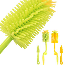 RENJIA Silicone baby Bottle Cleaning Brush set With Long Handle Water Bottle nipple teat brushes cleaner