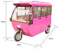 High quality electric car with open roof | 3 wheel electric cargo tricycle