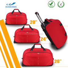 Durable duffle stylish classic luggage polo trolley travel bags with wheels