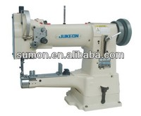 JK-335 Single-needle unison feed cylinder sewing machine(horizontal drop feed & suitable for over-edging)