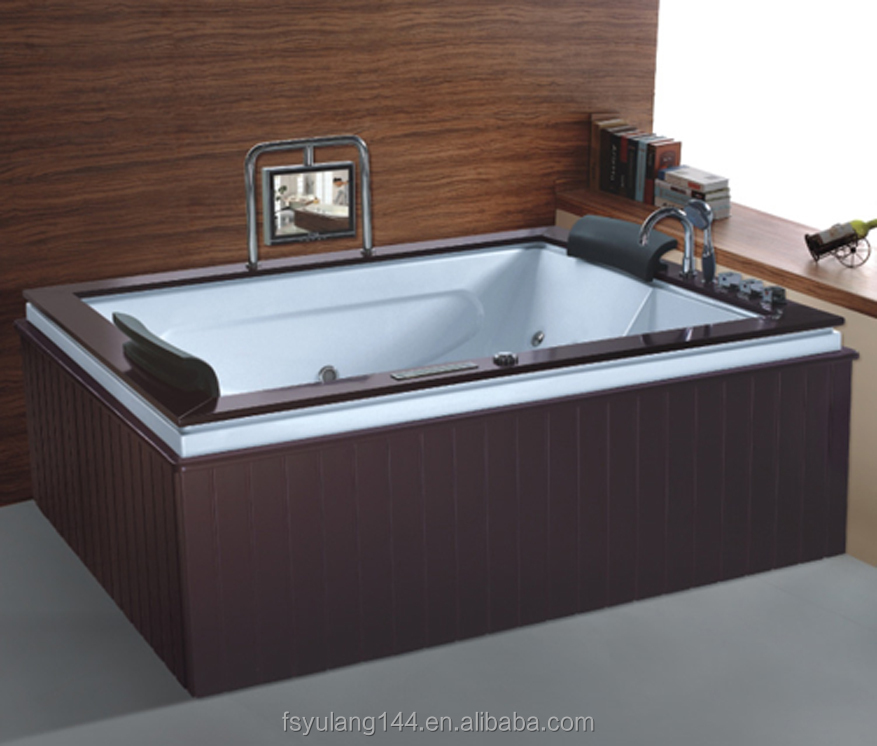 AD-B848 New 2016 wooden jacuzzy sizes bathtub sex bathtub with TV and DVD fiberglass used 2 person hot tubs wholesales