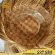 Mono lace Brazilian remy hair natural wave free style free part custom order women toupee