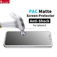 Hot Selling Products High Touch Sensitivity HD Clear PAC Matte Film Screen Guard Protector For Iphone X