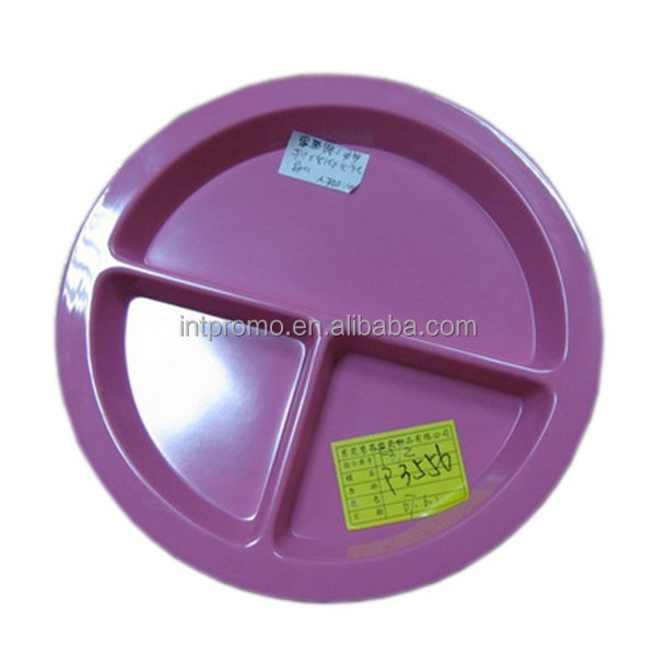 pink divided melamine dinner plate