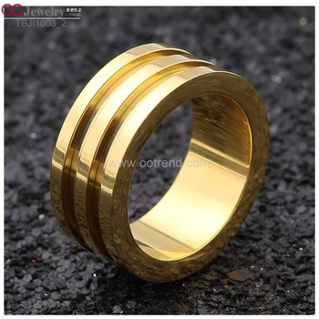 golden plated blank rings for inlay with shiny polished