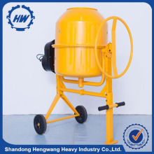 mini used portable concrete mixer with plastic drum