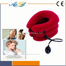 free samples cheap price full flannel material Neck Traction Device Cervical Portable Air Collar with CE and FDA certificate