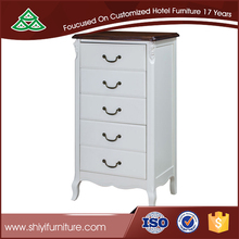 White wood cabinet small drawer,drawer storage cabinet,wooden bedside table