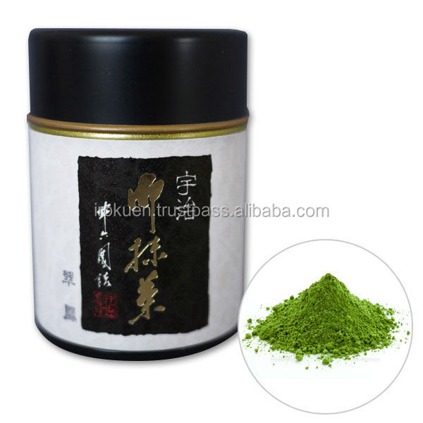 Flavorful organic matcha green powder for Japanese tea cup set for gifts