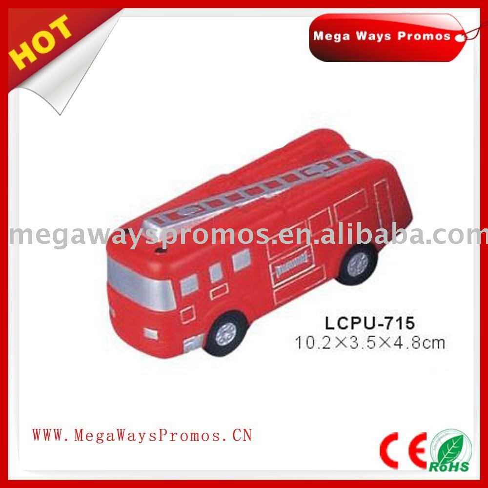 PU Fom Fire Truck Shape Stress Ball