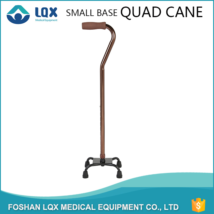 high quality small base quad blind outdoor elderly cane walking stick