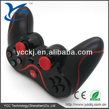 black bluetooth six axis gaming gamepad for ps3 controller replacement parts