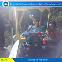 bore pile machine drop hammer hydraulic pile driver for sale