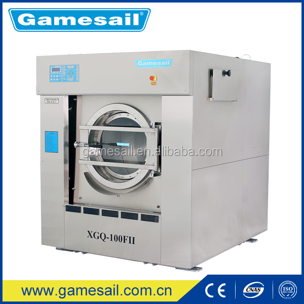 Spring suspension 100kg industrial laundry washing machine for sale