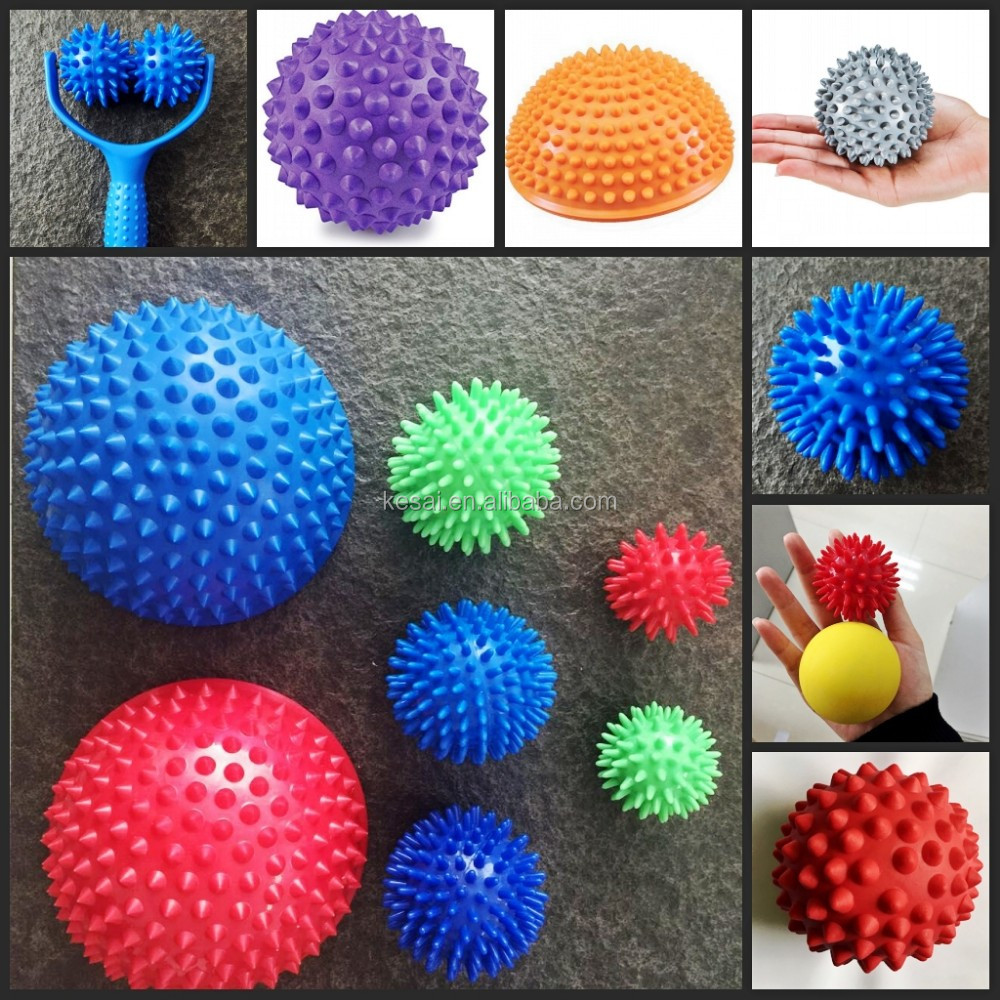 Half spiky massage ball in durian shape