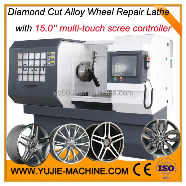 3rd Generation Max.26'' Diamond cut alloy Wheel Repair Lathe machine With 15'' touch screen controller Only 1~2 hour training