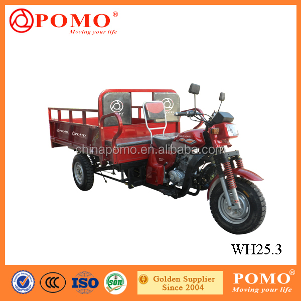 Made in China Hot Sale Motorized Passenger Seat 250CC China Gasoline Cargo India Loader Tricycle