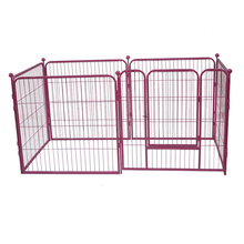 Safe lock folding portable expandable pet fence mobile indoor pet fence