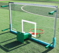 Outdoor standard FIBA fiber glass SMC basketball backboard with rim and net