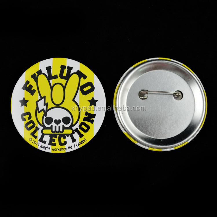 Full color printing metal button badge 50mm