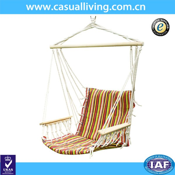 Quilted fabric hanging hammock chair single swing buy for Fabric hammock chair