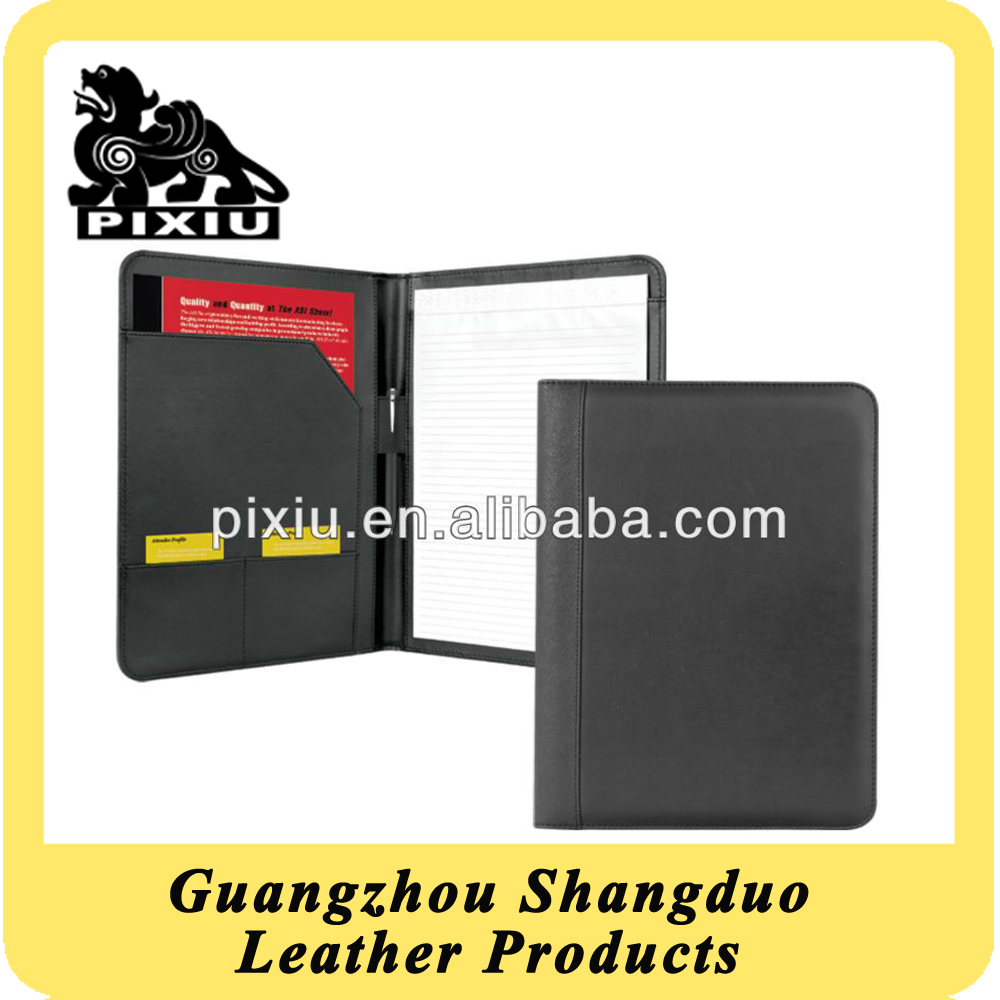 High Quality A4 Ppaper File Folder Popular Deluxe Leather Portfolio