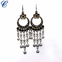 New design 2014 lady's cheap fashion gold plated earrings