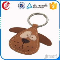 Wholesale animal shaped Key Holder Leather Keyring Custom Leather Keychain