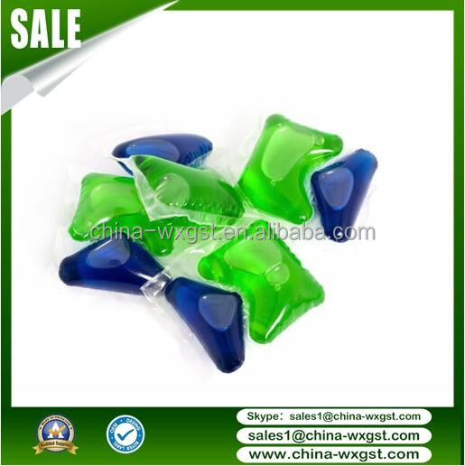 triangle High Concentrated PVA Water Soluble Film Laundry Detergent capsule for Washing