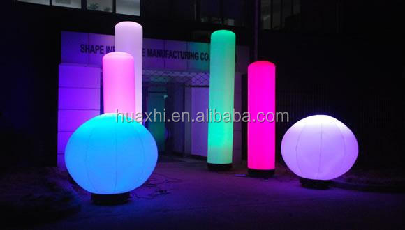 new style inflatable advertising LED light inflatable pillar large led balloons for sale
