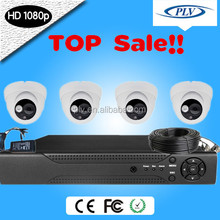 Top sale! 4 Security camera dome cover, ir waterproof camera,4ch cctv dvr kit