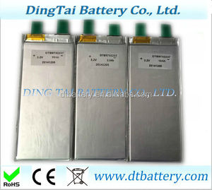 safty 3.2v 18ah high c-rate soft package prismatic 3C lifepo4 battery cell