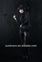 K-130 Punk rave gothic women LEATHER long pants with competitive price