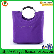 High quliaty fashion and cheap purple nylon foldable tote shopping bag