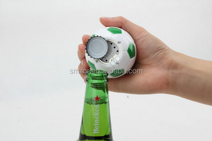 Supply Ecofriendly Football Type Music Bottle Opener For Weddi