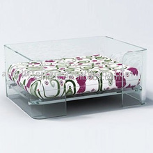 Pure Clear High Grade Large Luxury Elegant Cube Acrylic Pet Dog Bed