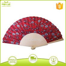 colorful personalized wooden folding fan promotion